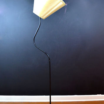 OOAK, One of a Kind Vintage Floor Lamp, Adjustable Gooseneck Floor Lamp, Statement Piece, Danish Modern, Eames Era