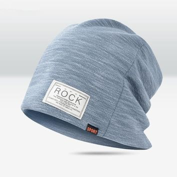 New Women And Men ROCK Cloth Mark Hat