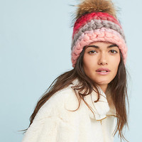 Rosy Striped Beanie
