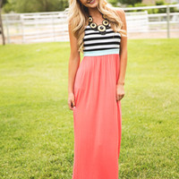 Double The Fun Flowy Maxi - Modern Vintage Boutique