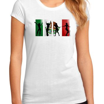 Mexican Flag - Dancing Silhouettes Juniors Sublimate Tee by TooLoud