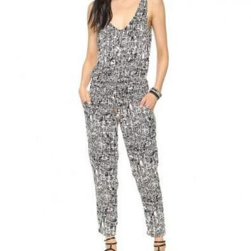 Sleeveless Pattern Print Jumpsuit