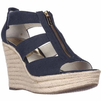 MICHAEL Michael Kors Damita Wedge Espadrille Sandals - Navy