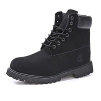 Timberland Rhubarb boots for men and women shoes waterproof Martin boots lovers pure black