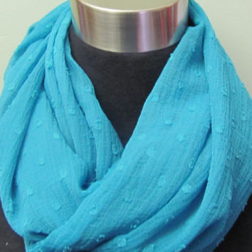 Teal Infinty Scarf