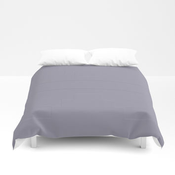 Grey Suit Flat Duvet Cover by deluxephotos