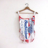 vintage one piece BUDWEISER swimsuit.