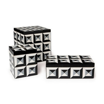 Deco Patterned Rectangular Resin Box