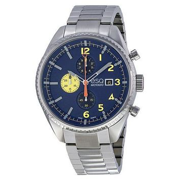ESQ Movado Catalyst Chronograph Blue Dial Stainless Steel Bracelet Men's Watch