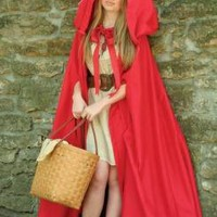 Victorian trading Co. - www.victoriantradingco.com - L'il Red Riding Hood Cape