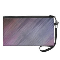 Diagonal Silvery Purple Abstract Pattern Wristlets