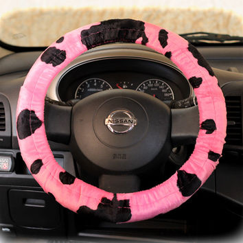 Steering Wheel Cover Bow Wheel Car Accessories Lilly Heated For Girls Interior Aztec Monogram Tribal Camo Cheetah Sterling Chevron Pink Cow