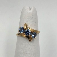 vintage 10k Yellow Gold Aquamarine .75cts  Ring