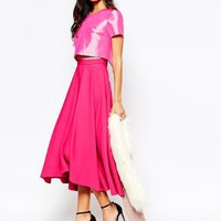 Fame and Partners | Fame And Partners Domino 2 In 1 Full Prom Skater Dress With High Low Hem at ASOS