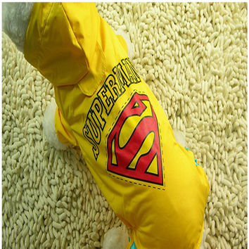 Dogs Coat Waterproof Clothes Fashionable Kitten Pet Dog Raincoat Teddy Chien Rain Cloth Cape