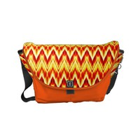 Colorful wavy patterns small messenger bag