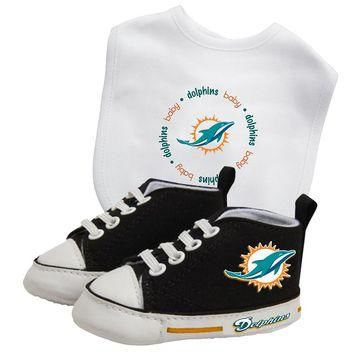 Miami Dolphins NFL Infant Bib and Shoe Gift Set