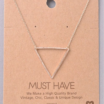 Must Have Triangle Necklace