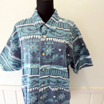 f023eb77c735 Vintage Bugle Boy Button-Up Short Sleeve Shirt 1980s
