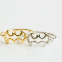 Line batman ring,animal ring,cute ring,couple ring,mens rings,womens ring,gold batman ring,unique ring,bridesmaid gift,jewelry rings,USADR66 = 1927957892