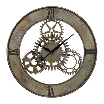 Industrial Cog Wall Clock by Sterling