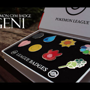 Pokemon GYM Badge collection - Gen 1 Kanto Region