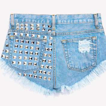 Dangers Stone Studded Babe Shorts