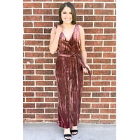 Dark Mauve Velvet Jumpsuit - BB Dakota