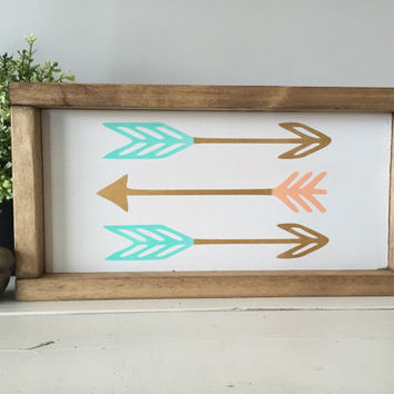 Arrows wood sign, handmade wood sign, home decor wood sign, wood signs, home decor, house warming gift