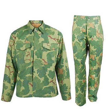 WWII VIETNAM WAR US ARMY MITCHELL SOLIDER MILITARY CAMOUFLAGE JACKET AND TROUSER UNIFORM IN SIZES  - World military Store