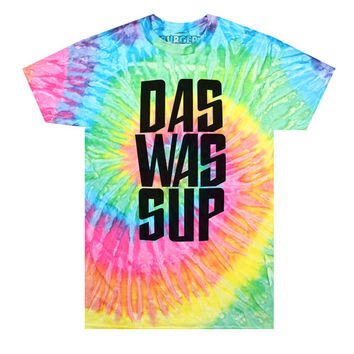 DAS WAS SUP Alien Tie Dye T-Shirt