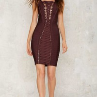 In Lace-Up Emergency Mini Dress
