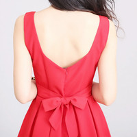 Marisa Pleated Dress - Red