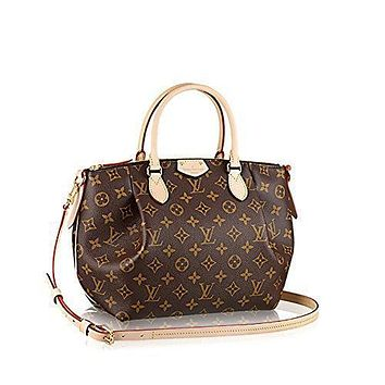 Authentic Louis Vuitton Monogram Canvas Turenne PM Tote Bag Handbag Article: M48813 Ma