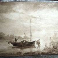 old master seascape watercolor art Jan Van Goyen 1653