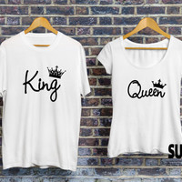 King and queen shirts, couple matching shirts, couple matching tees, couples shirts, shirts for couples, king queen set of tshirts