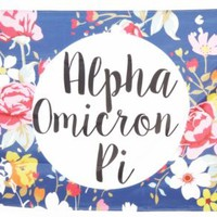 Alpha Omicron Pi Floral Flag 3' x 5' - NEW!