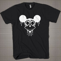 Mickey Skull  Mens and Women T-Shirt Available Color Black And White