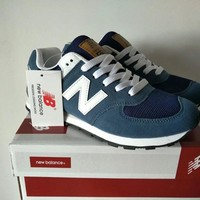 new balance 574 sport casual unisex n words retro sneakers couple running shoes-5