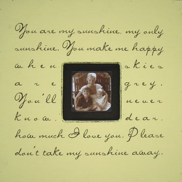 You Are My Sunshine Photobox Frame