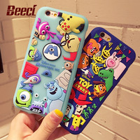 Beeci Cute Cartoon Toy Story 3D Soft Silicone Phone Cases for Apple iPhone 7 6 6s Plus  Back Cover Fundas Capa