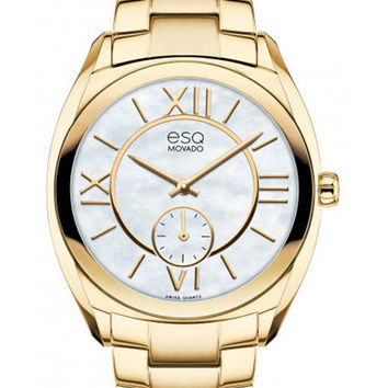 ESQ Movado Ladies Origin Watch - Yellow Gold Toned - Mother of Pearl Dial