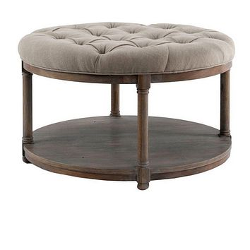 Brownstone Furniture Lorraine Round Upholstered Coffee Table