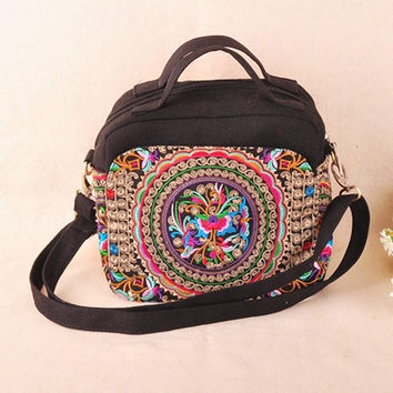 Ethnic Bag New Ethnic Embroidery Bags Handmade Canvas Vintage Boho Bag Dslr Camera Bag For Women Bolsos Etnicos Bordados