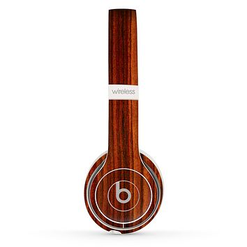 The Bright Red Ebony Woodgrain Skin Set for the Beats by Dre Solo 2 Wireless Headphones