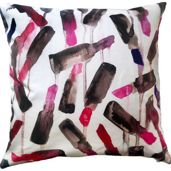 Lipstick Drip Pillow Case