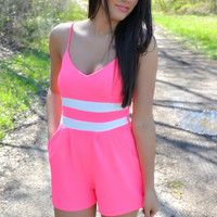 Shake Your Groove Thing Pink Romper