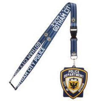Batman Gotham Police Department Lanyard Keychain …