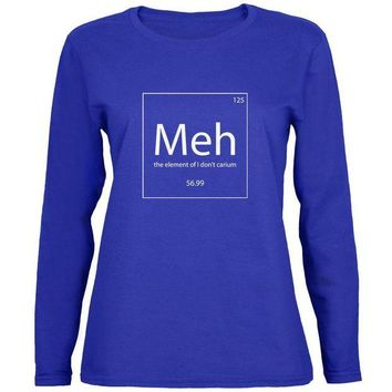 Chenier Meh Periodic Table Womens Long Sleeve T Shirt