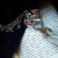 Dragonborn Dovahkiin Necklace Pendant - Game Inspired Pendant - Dragon Tongue Scroll Necklace